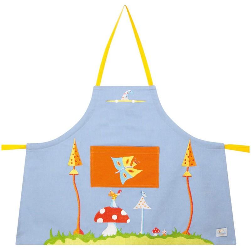 Fartuszek liliowy dla dzieci 2-4 lata do malowania, gotowania