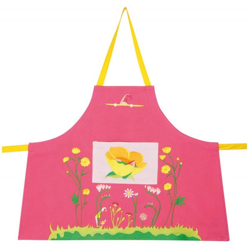 Fartuszek różowy dla dzieci 2-4 lata do malowania, gotowania