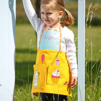 Fartuszek żółty dla dzieci 2-4 lata do malowania, gotowania