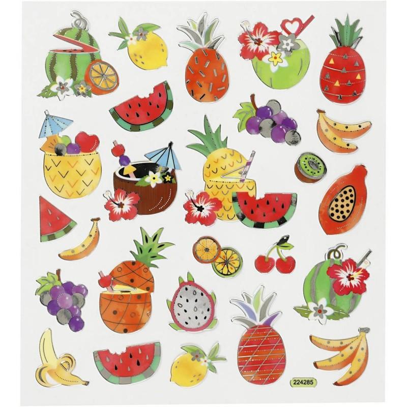 Egzotyczne Owoce naklejki dla dzieci +3, Creativ Company
