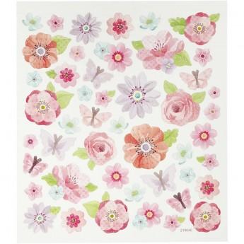 Kwiaty i Motylki naklejki dla dzieci +3, Creativ Company