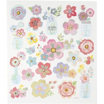 Delikatne Kwiaty naklejki dla dzieci +3, Creativ Company