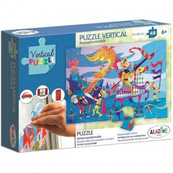 Aladine Puzzle Wertykalne Smok 48 elementów
