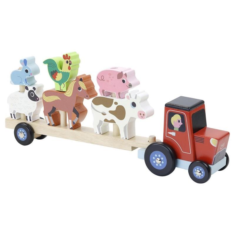 Vilac Nakładanka ciągnik ze zwierzętami farmy by I. Arrhenius