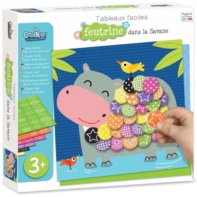 Crea Lign' Obrazy filcowe Sawanna zabawka plastyczna