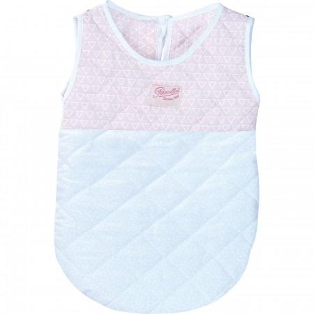 Petitcollin Śpiworek biało-różowy dla lalek bobasów zabawka +18m