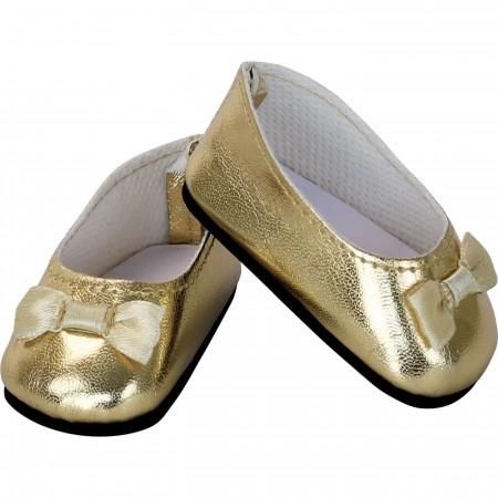 Petitcollin Buciki baleriny złote dla lalek od 39 do 48 cm