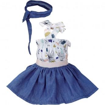 Petitcollin Ubranka dla lalek 40 cm Midi letnia sukienka, opaska