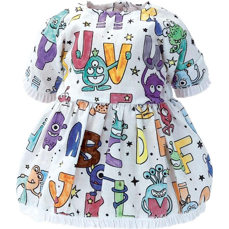 Petitcollin Sukienka dla lalek do kolorowania zabawka +18m