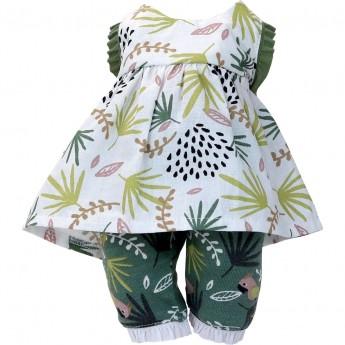 Petitcollin Ubranka dla lalek 28 cm Lilou letnia sukienka, spodenki