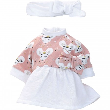 Petitcollin Ubranka dla lalek 28 cm Maya sukienka, opaska