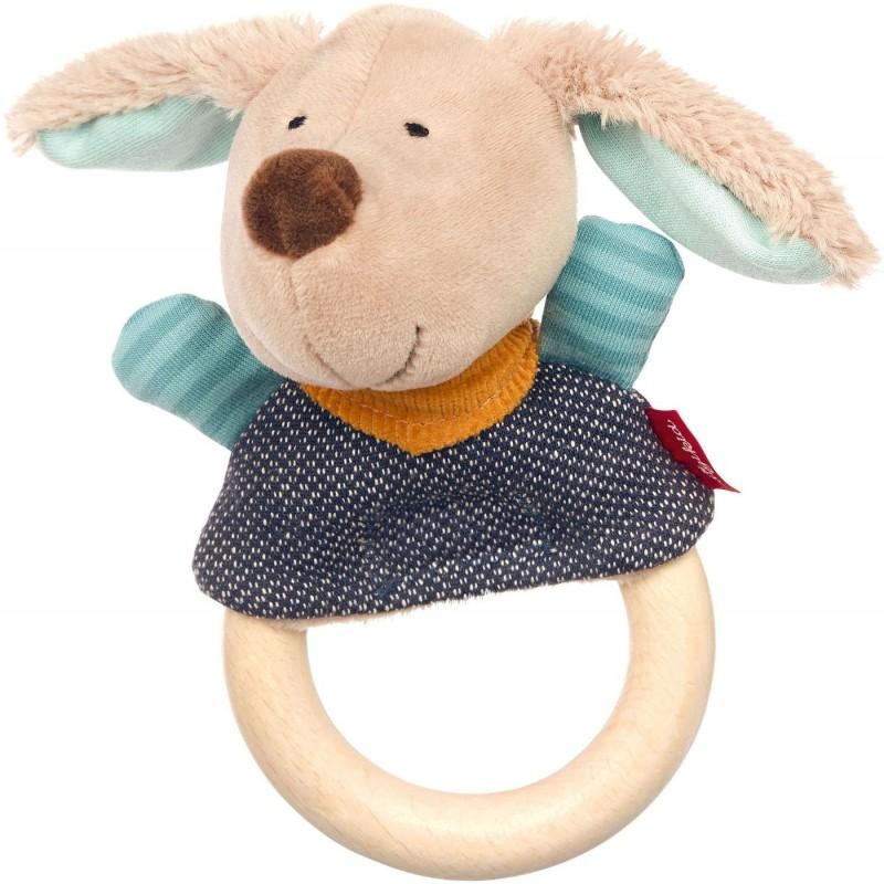 Sigikid Grzechotka drewniana Piesek zabawka dla niemowląt