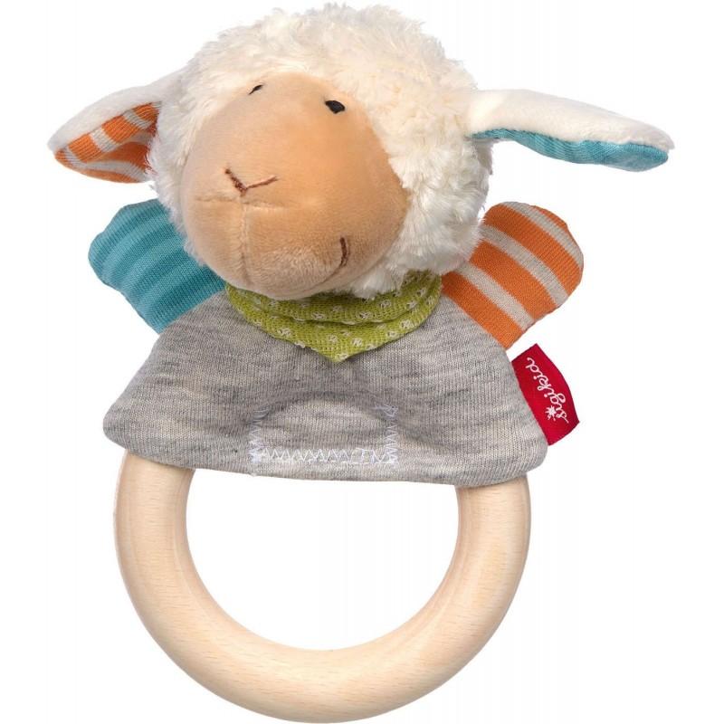 Sigikid Grzechotka drewniana Owieczka zabawka dla niemowląt