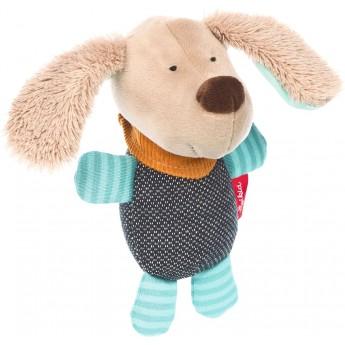 Sigikid Grzechotka niebieski piesek zabawka dla niemowląt