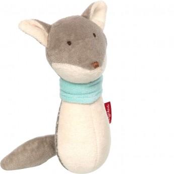 Sigikid Grzechotka niebieski wilk zabawka dla niemowląt