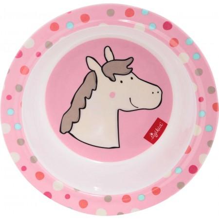Sigikid Miseczka dla dziecka różowa Konik z melaminy