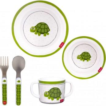 Sigikid Zestaw naczyń obiadowych Żółwik dla dzieci