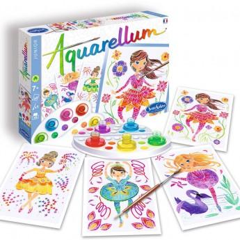 SentoSphere Aquarellum Baletnicy 4 obrazy do malowania i farby