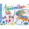 Konie 4 obrazy do malowania i farby Aquarellum Junior, SentoSphere