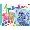 Koty 3 obrazy do malowania i farby Aquarellum, SentoSphere