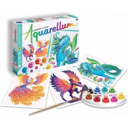 Aquarellum Mityczne Stworzenia 3 obrazy do malowania