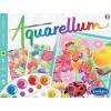 Aquarellum Kwiaty 3 obrazy do malowania i farby, SentoSphere