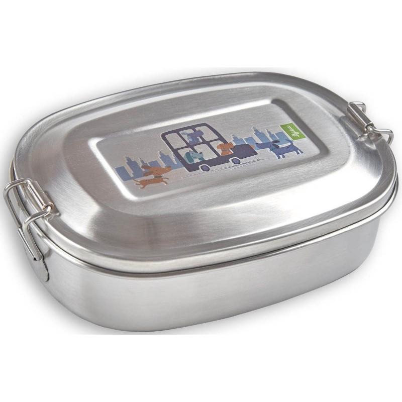 Sigikid Lunchbox dla dzieci do szkoły Pieski, metalowy