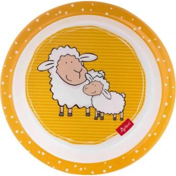Sigikid Talerz dla dziecka żółty Owieczki bezpieczny
