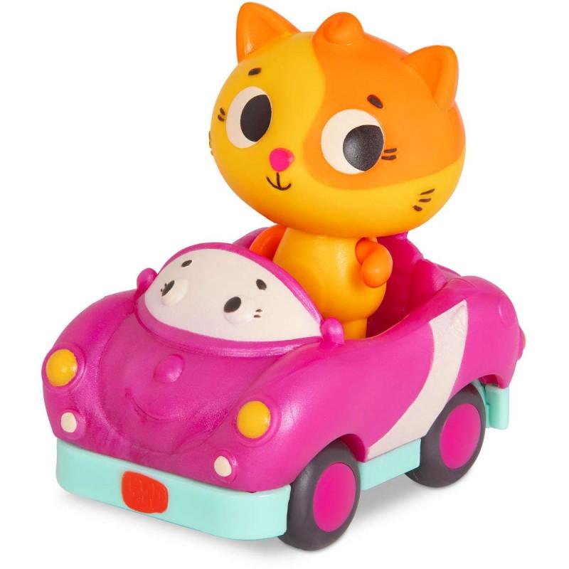 B. Toys Miękkie autko sensoryczne z Kotkiem Land of B. od 12mc