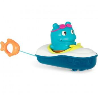 B.Toys Zestaw do kąpieli – łódka z napędem i pasażerem-sikawką +10mc