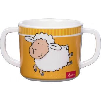Sigikid Kubek z uszami żółty owieczka dla dziecka +2