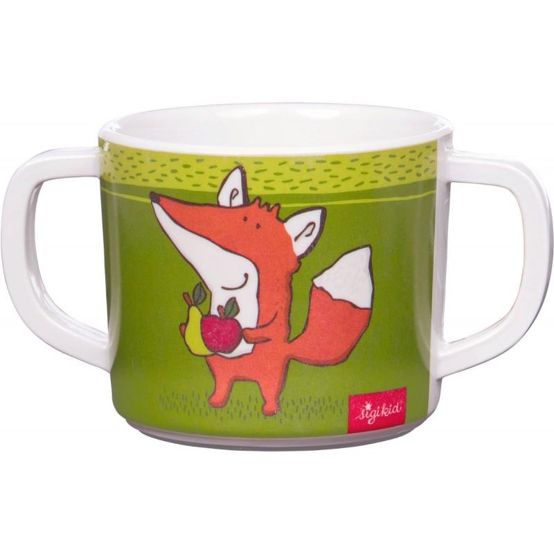 Sigikid Kubek z uszami zielony Lisek dla dziecka +2