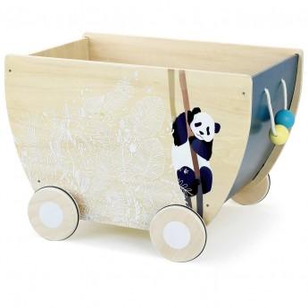 Vilac Wózek na zabawki drewniany W Tropikalnym Lesie +2