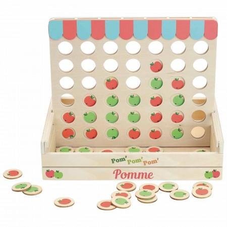 Vilac Cztery jabłka z rzędu drewniana gra dla pięciolatka