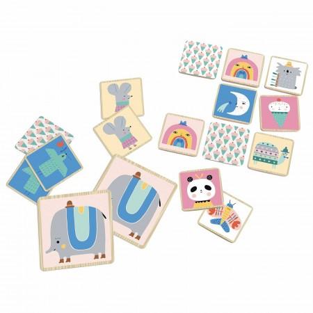 Vilac Gra memo drewniana 48 elementów dla dzieci +2 by Suzy Ultman