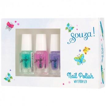 Lakiery do paznokci z brokatem na bazie wody dla dzieci, Souza!
