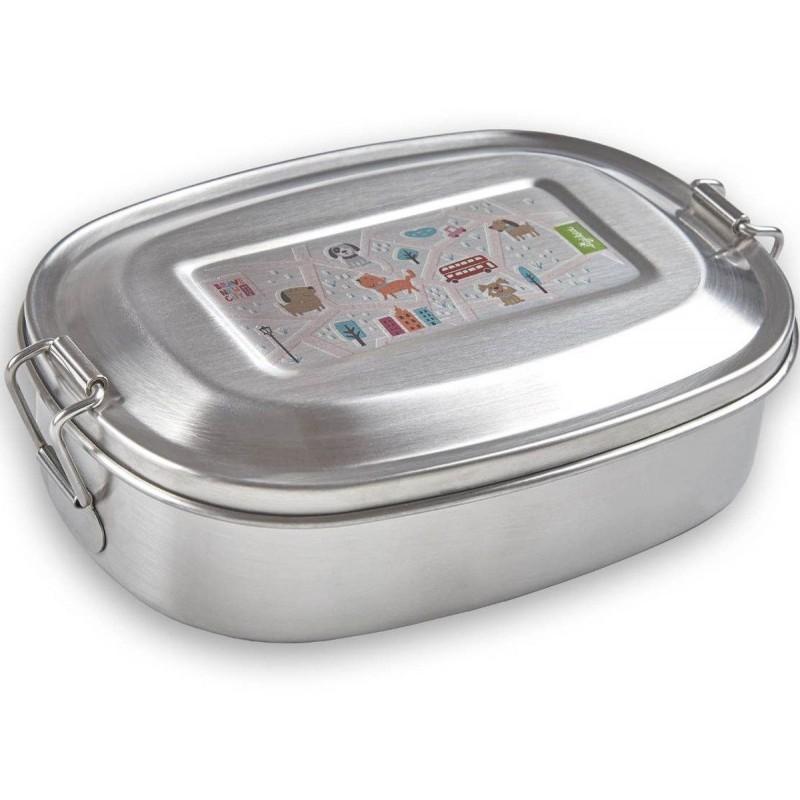 Sigikid Lunchbox dla dzieci do szkoły Kotki, metalowy