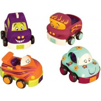 B.Toys Autka miękkie zestaw czteropak Wheeeels od 12mc