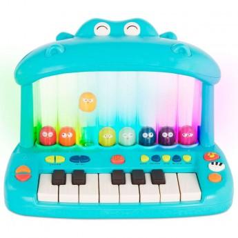 B.Toys Hippo Pop Play Piano Keyboard ze skaczącymi ptaszkami +12mc