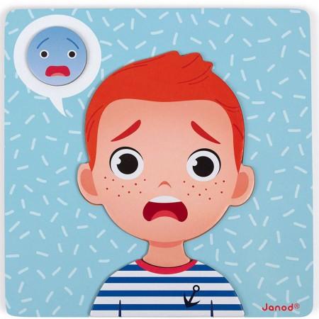 Janod Magnetyczna układanka Emocje dla dzieci od 2 lat