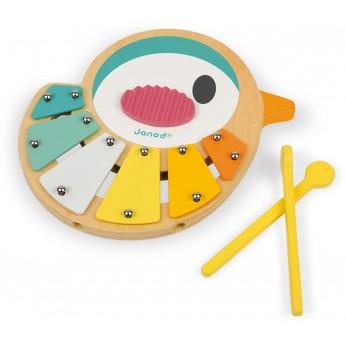 Janod Cymbałki Ptaszek zabawka muzyczna drewniana +12mc