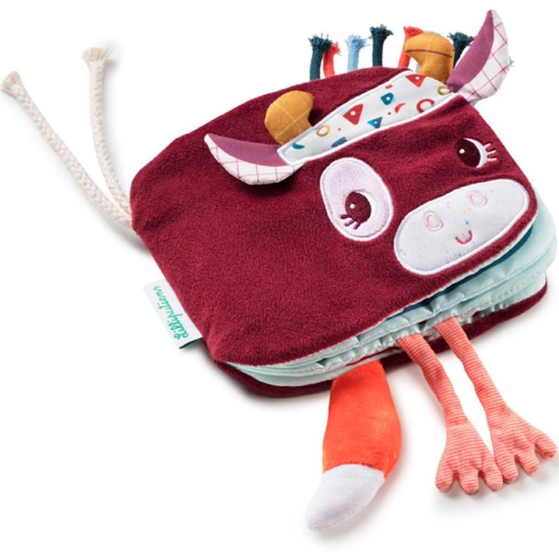Lilliputiens Książeczka dla niemowląt Krówka Rosalie +9m