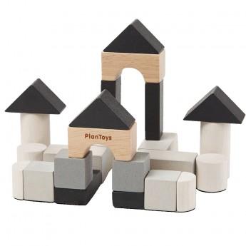 Plan Toys Klocki drewniane, 24el. +18 mc