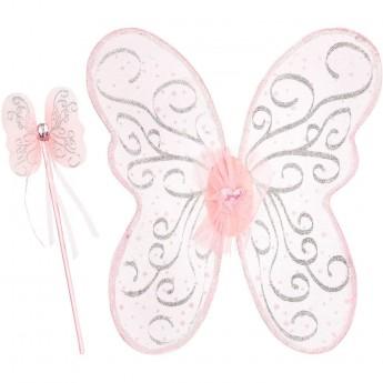 Przebranie wróżki Sophia Pink skrzydła i różdżka, Souza!