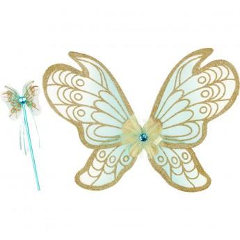 Przebranie wróżki Jeanne Mint skrzydła i różdżka, Souza!