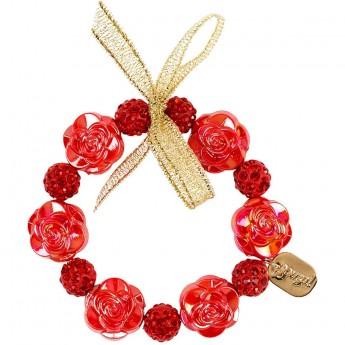 Złoto-czerwona bransoletka dla dzieci Mirianne, Souza!