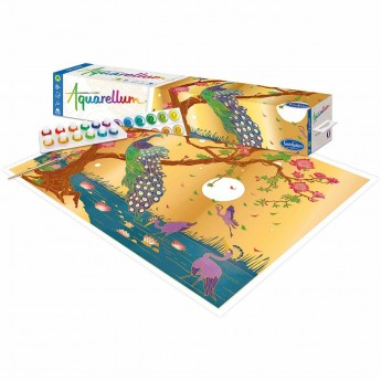 Aquarellum Paw plakat do malowania i farby, SentoSphere