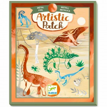 Djeco Zestaw artystyczne łatki - dinozaury