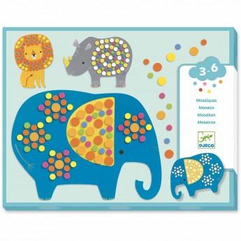 Djeco Mozaiki dla maluchów Dżungla dla dzieci od 3 lat