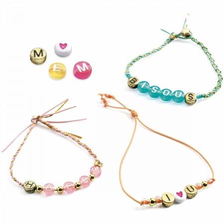 Djeco Zestaw do tworzenia biżuterii Perełki z Literkami +8